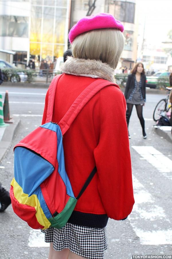 Colorful Backpack in Harajuku