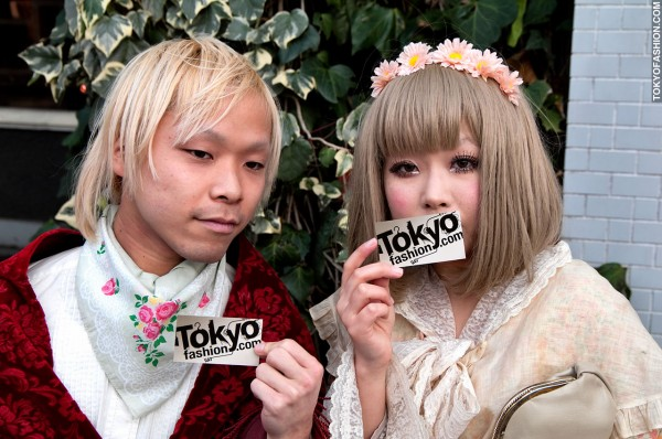 Blonde Japanese Girl and Guy