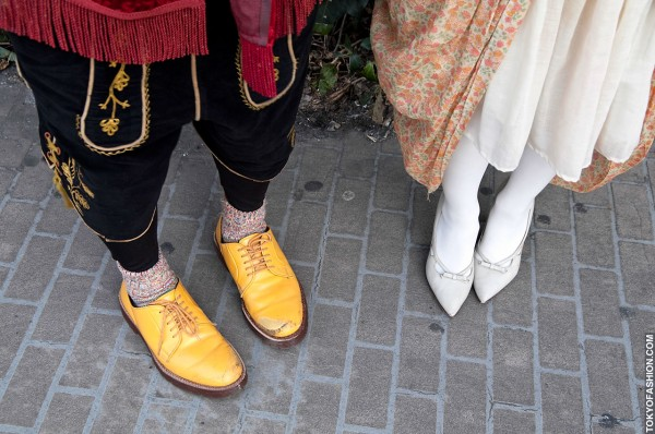 Pointy Heels and Yellow Shoes in Harajuku