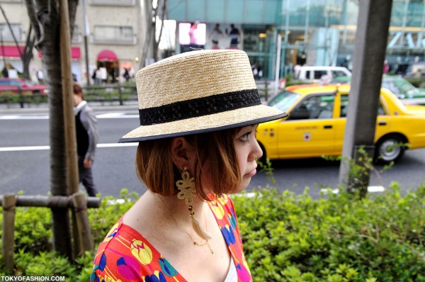 Harajuku Girl in Straw Hat