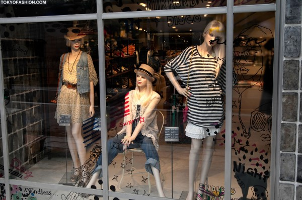 Girls in Hats in Shop Windows