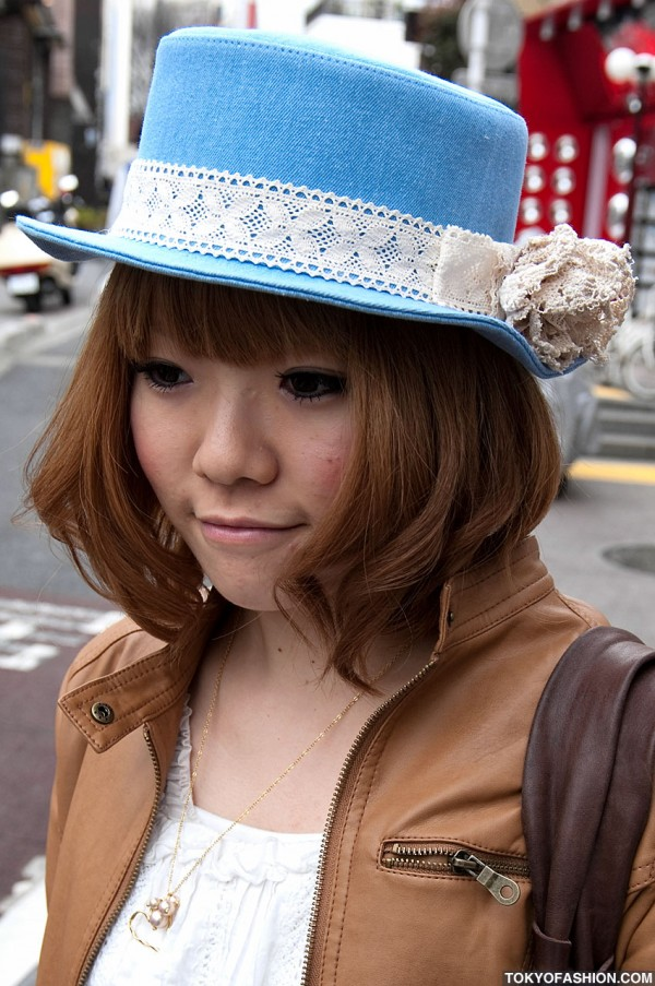 Japanese Girl in Boater Hat