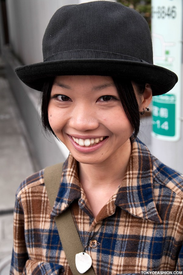 Japanese Girl With Cute Smile & Hat