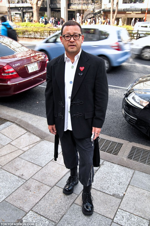 Guy in Comme Des Garcons Jacket in Tokyo