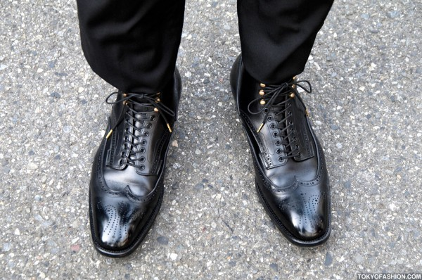Black Leather Dress Shoes in Tokyo