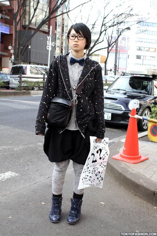 Japanese Girl in Glasses & Tsumori Chisato Hoodie