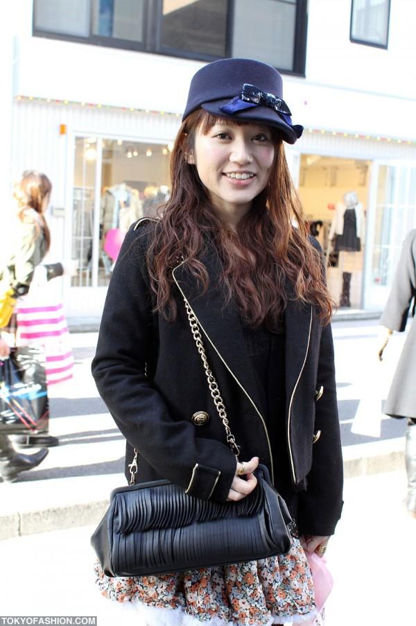 Japanese Girl in Goocy Coat