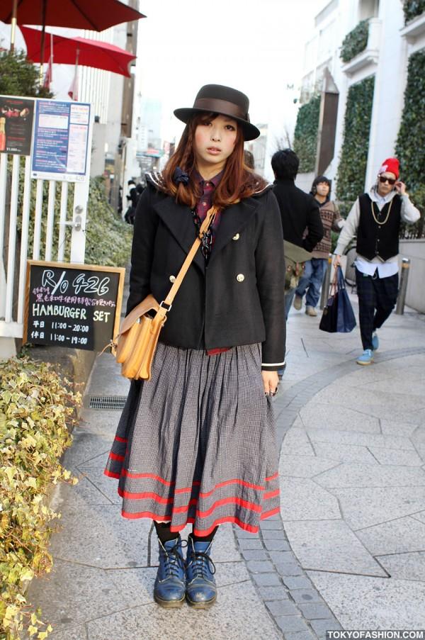 Romantic Standard & Vintage Girl in Harajuku