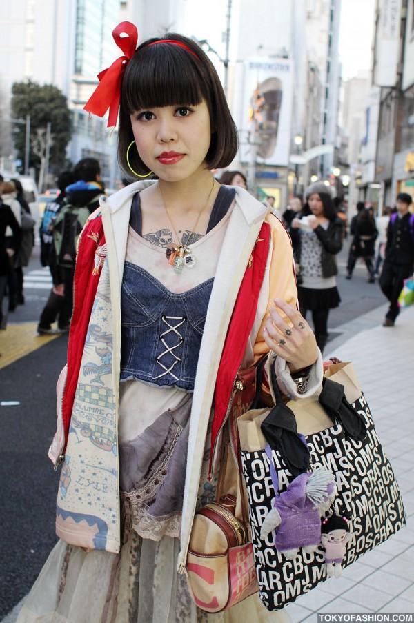 Tattoos & Cool Fashion in Harajuku