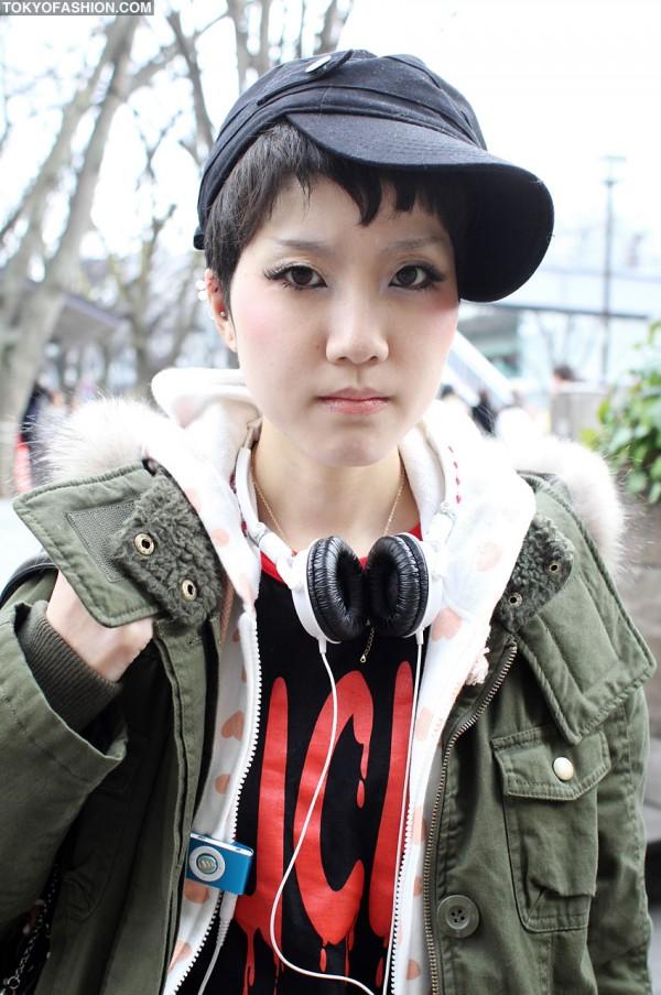 Japanese Girl With Short Hair