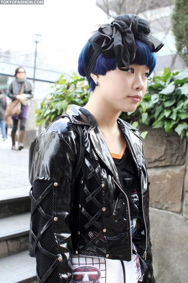 Blue Hair & Hair Bow