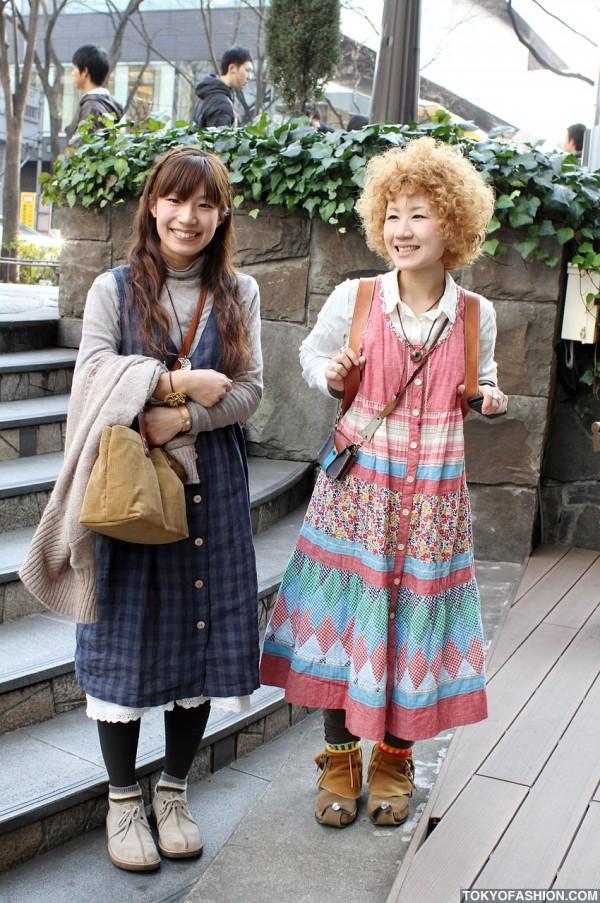 Cute Blonde Perm & Custom Moccasins in Harajuku