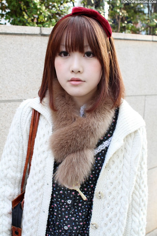 Knit Sweater & Hair Bow