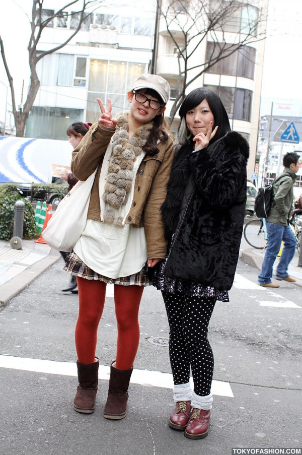 Plaid, Polka Dot, Dior & American Apparel in Harajuku