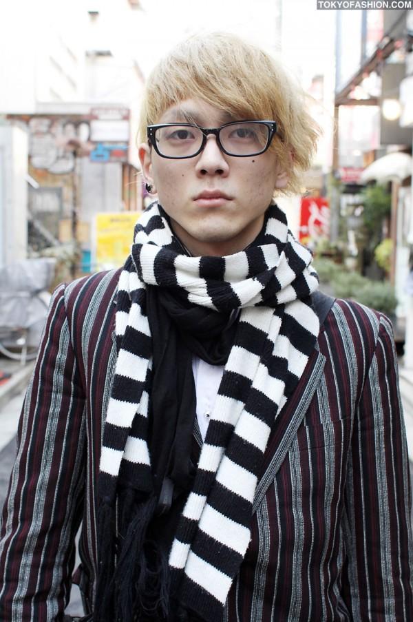 Blonde Japanese Guy in Tokyo