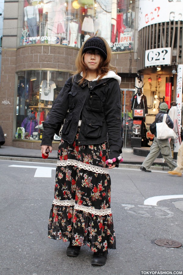 Liz Lisa & Long Flowery Dress in Harajuku