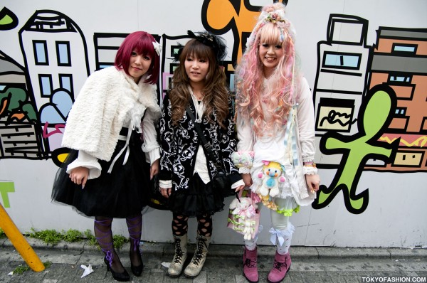 Fairy Kei & Japanese Decora Nail Girls in Harajuku
