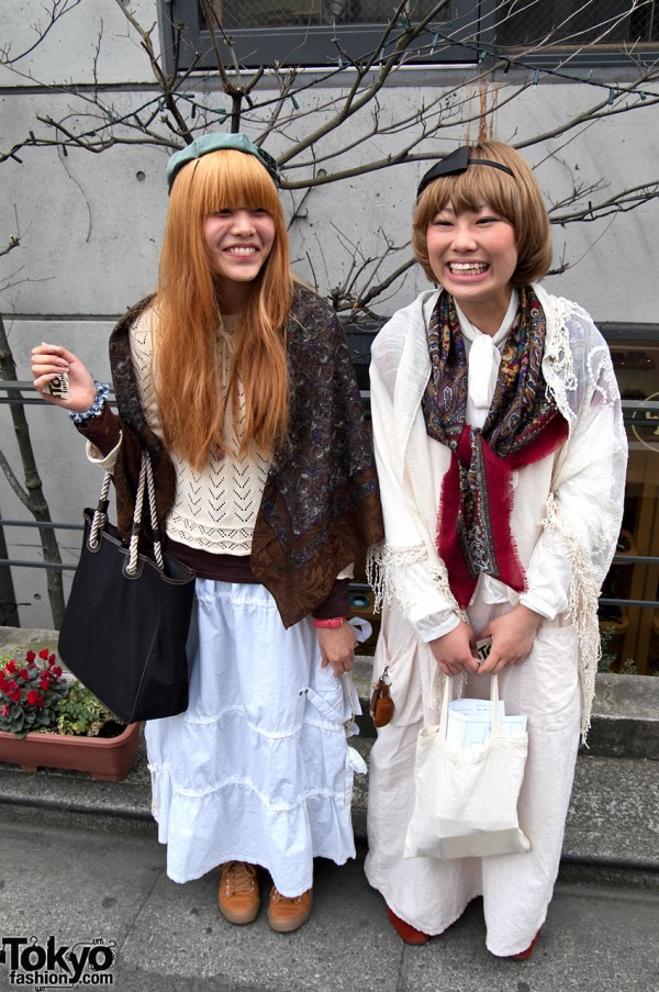 Smiling Japanese Girls in Harajuku