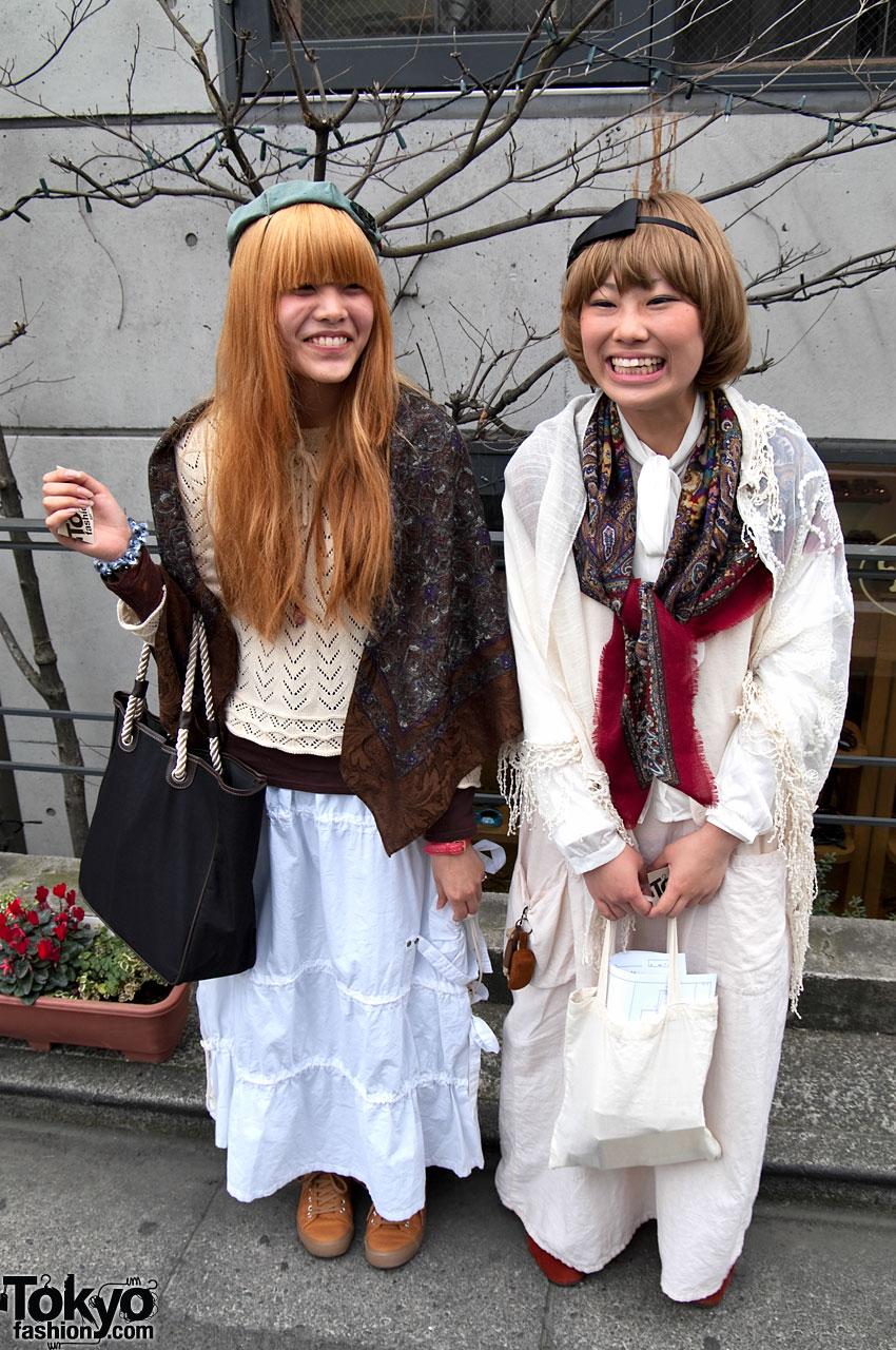 Smiling Japanese Girls in Harajuku