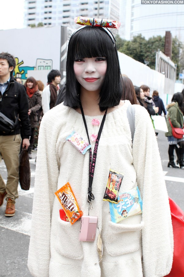 Japanese Girl Wearing Candy