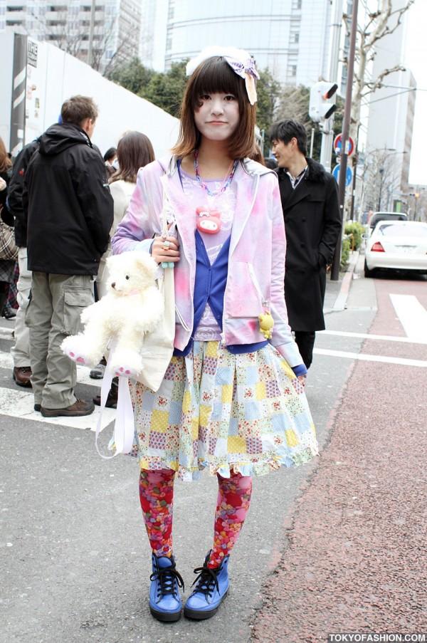 Japanese Girl With Teddy Bear