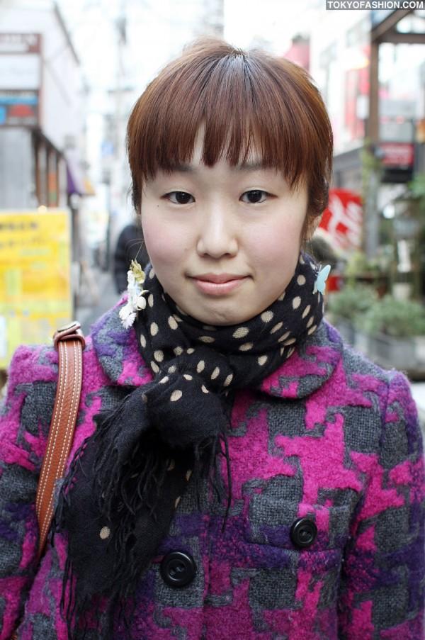 Polka Dot Scarf in Harajuku
