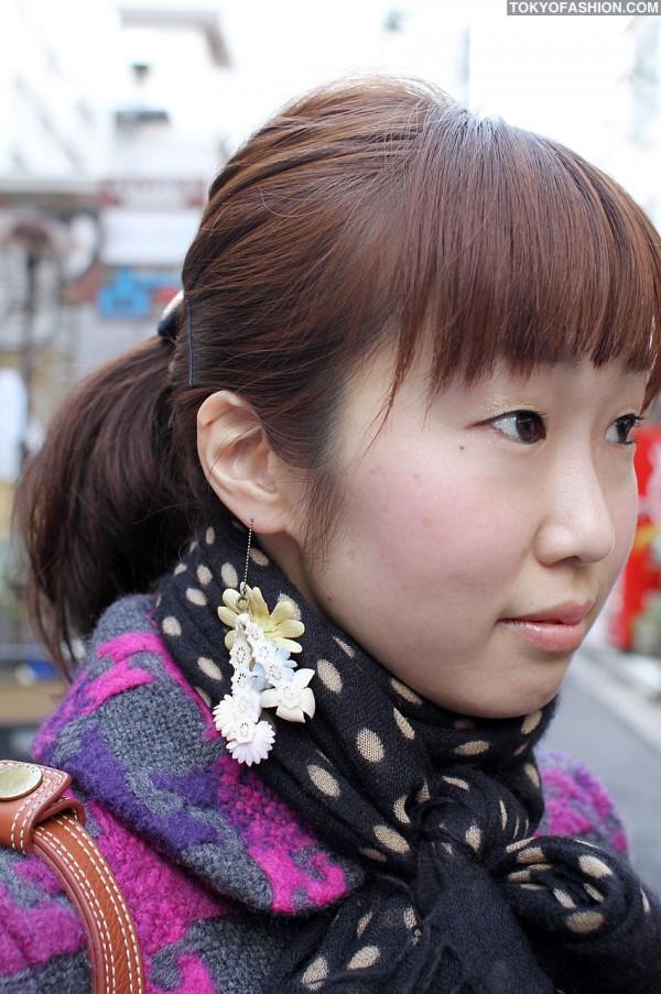 Flower Earrings in Harajuku