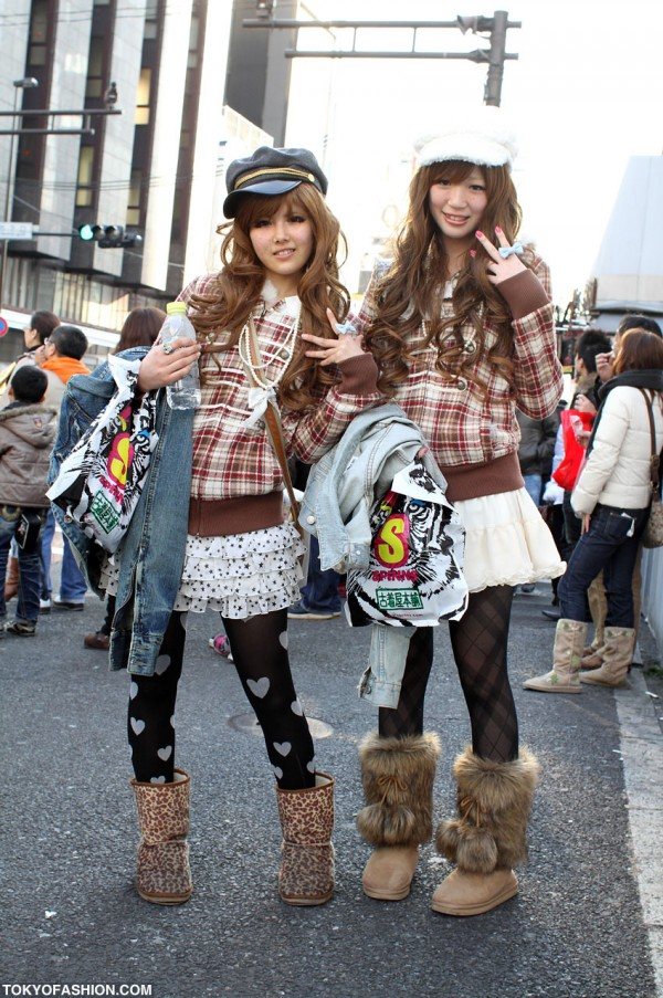 Liz Lisa Plaid Tops and Hats in Harajuku