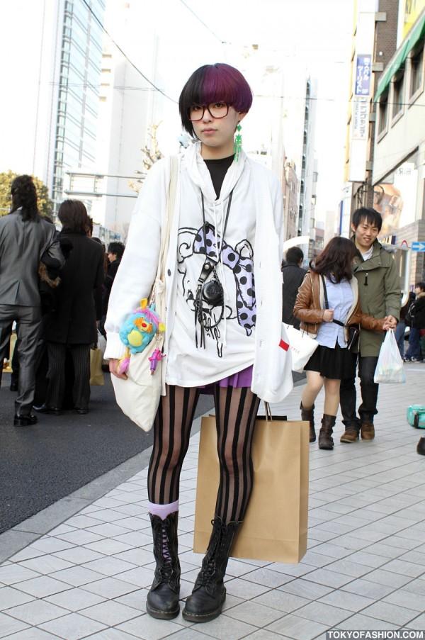 Japanese Girl in Monomania Top & Nadia Tights
