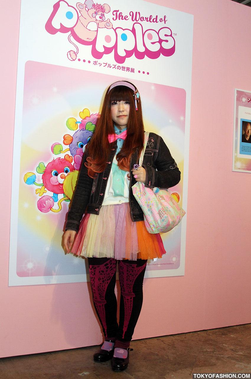 6%dokidoki Skirt and print leggings at World of Popples