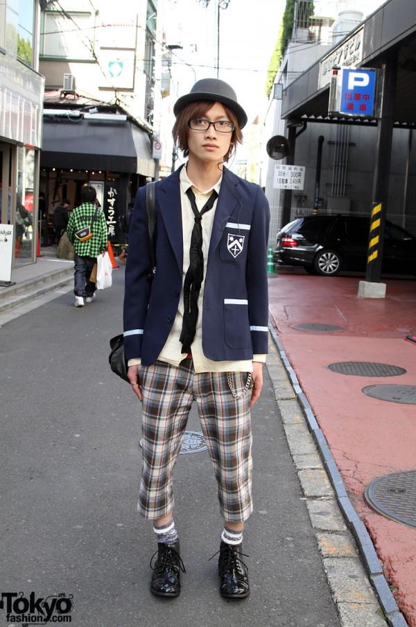 Uniform Jacket, Hat & Glasses in Harajuku