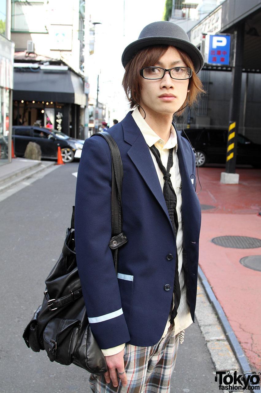 Uniform Jacket Hat Amp Glasses In Harajuku