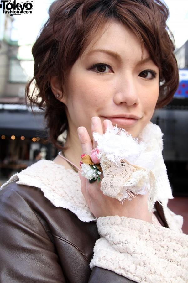 Handmade lace ring
