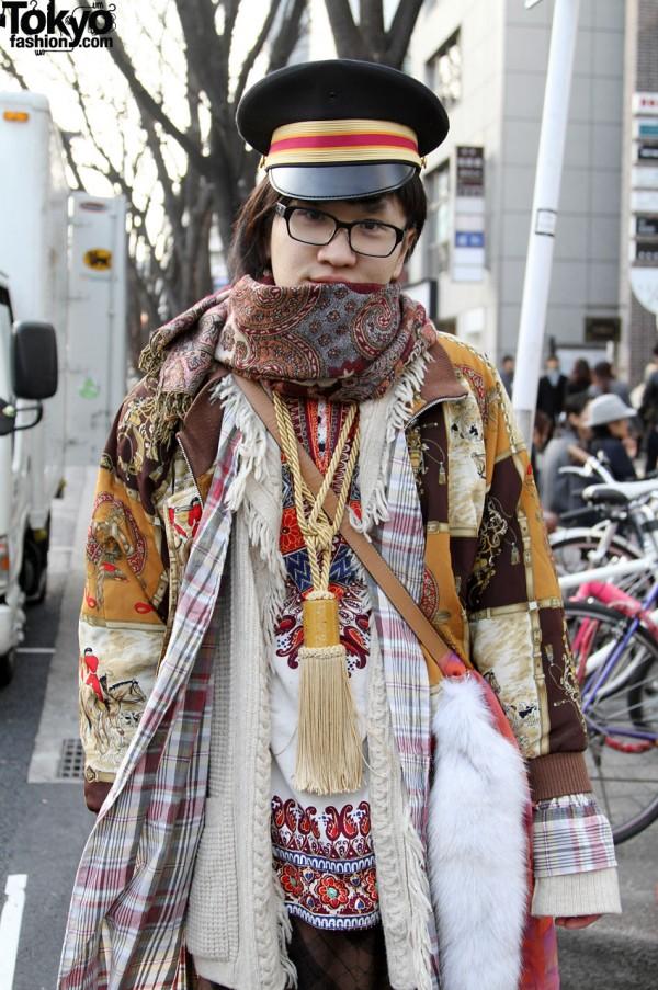 Vintage scarves and tassel