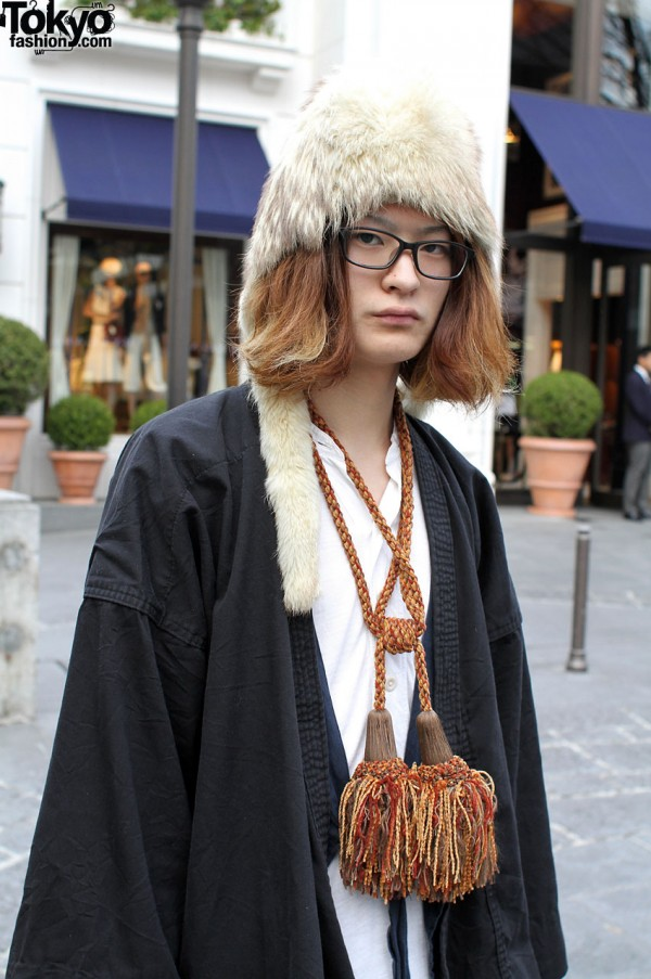 Japanese student with large tassel necklace