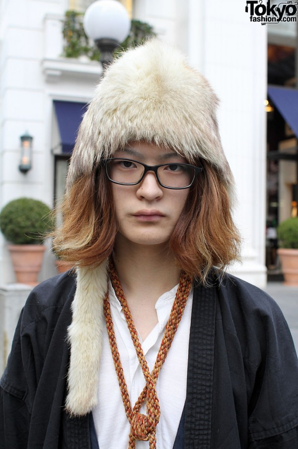 Haight & Ashbury furry hat and glasses