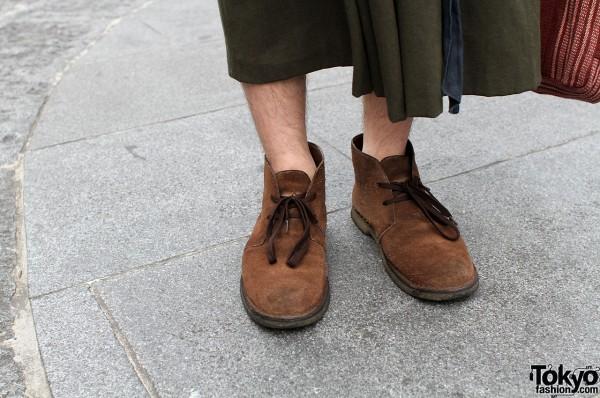 Vintage brown suede boots