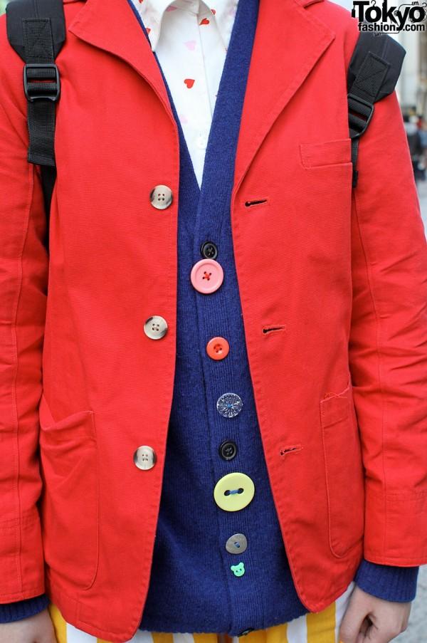 Button Vest from Bunkaya Zakkaten