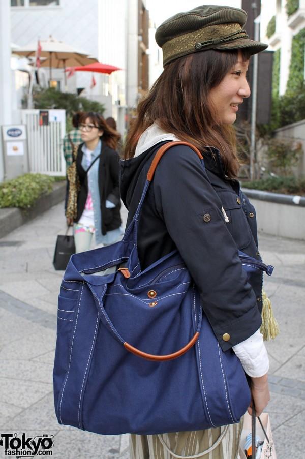 Big blue Shuka bag
