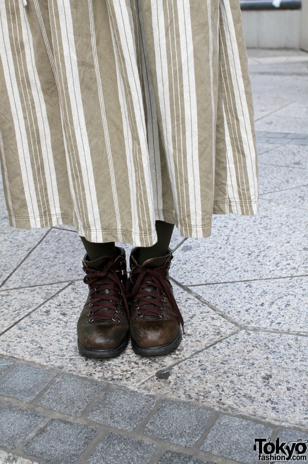 Hanjiro boots and long cotton skirt