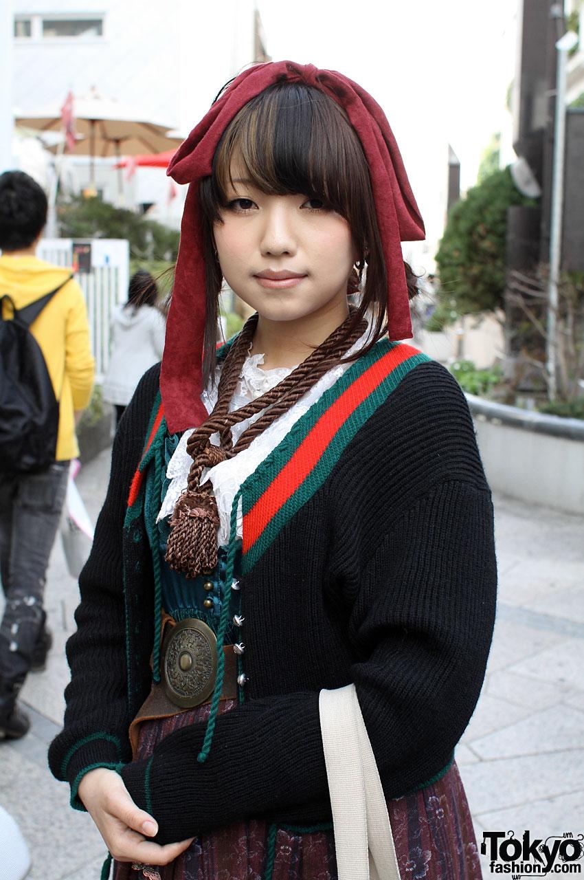 dollykei girl in grimoire skirt amp floppy hair bow