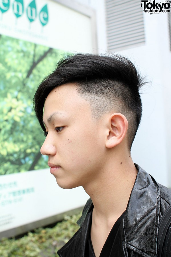 Japanese guy with cool haircut