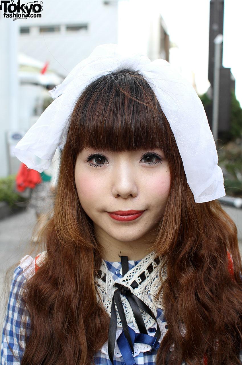 Japanese Girl In Panama Boy Top Amp Red Dress