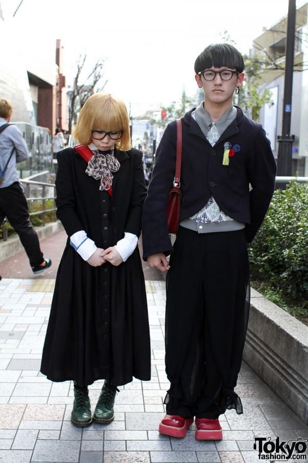 Christopher Nemeth Jacket & Blonde Bob in Harajuku