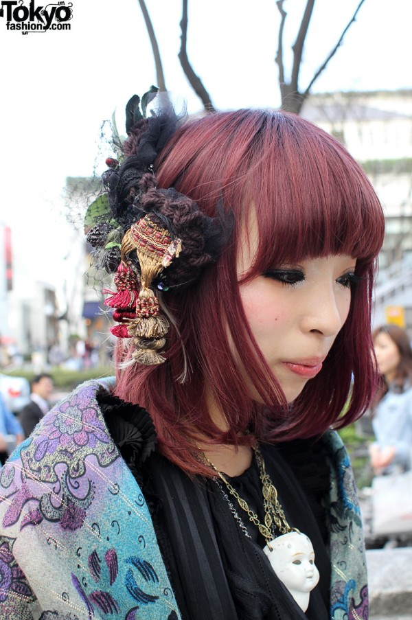 Japanese girl with Rurumu hair ornament