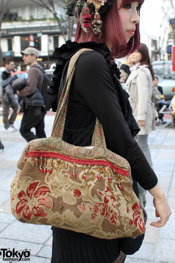 Vintage floral bag from Grimoire