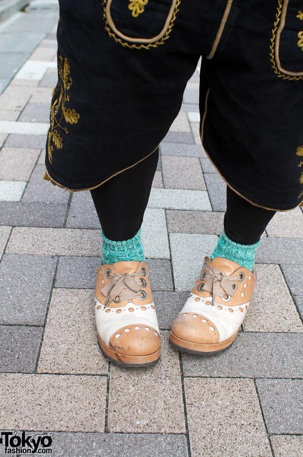 Two-tone Tokyo Bopper shoes