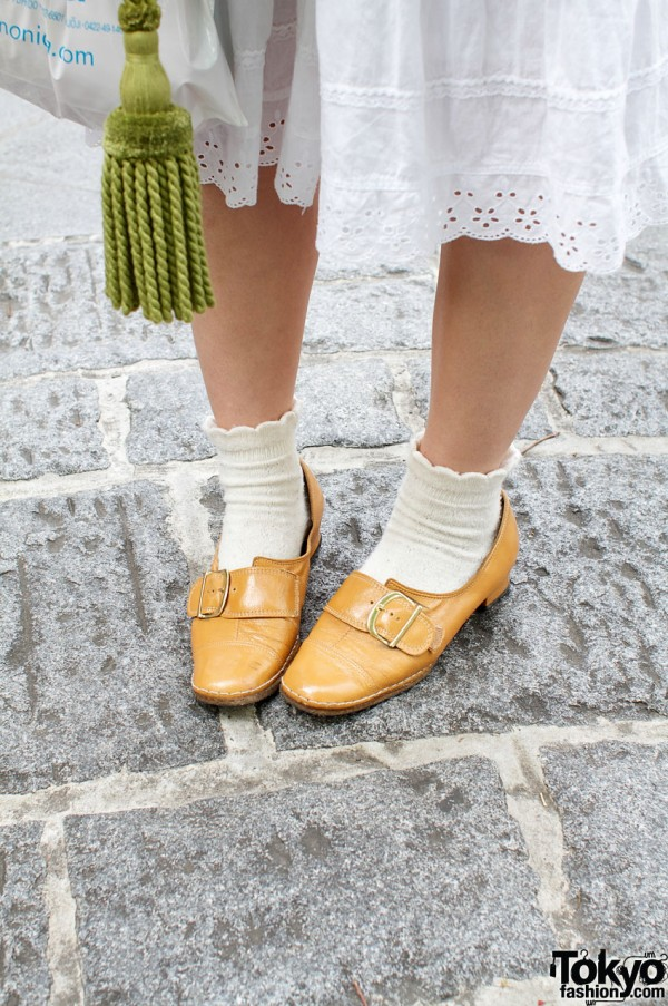 Ankle socks and buckled shoes from Hakui
