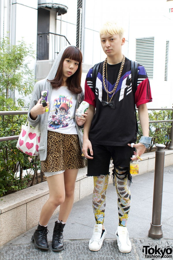 Dr. Slump & Leopard Girl vs. Adidas & Leggings Guy
