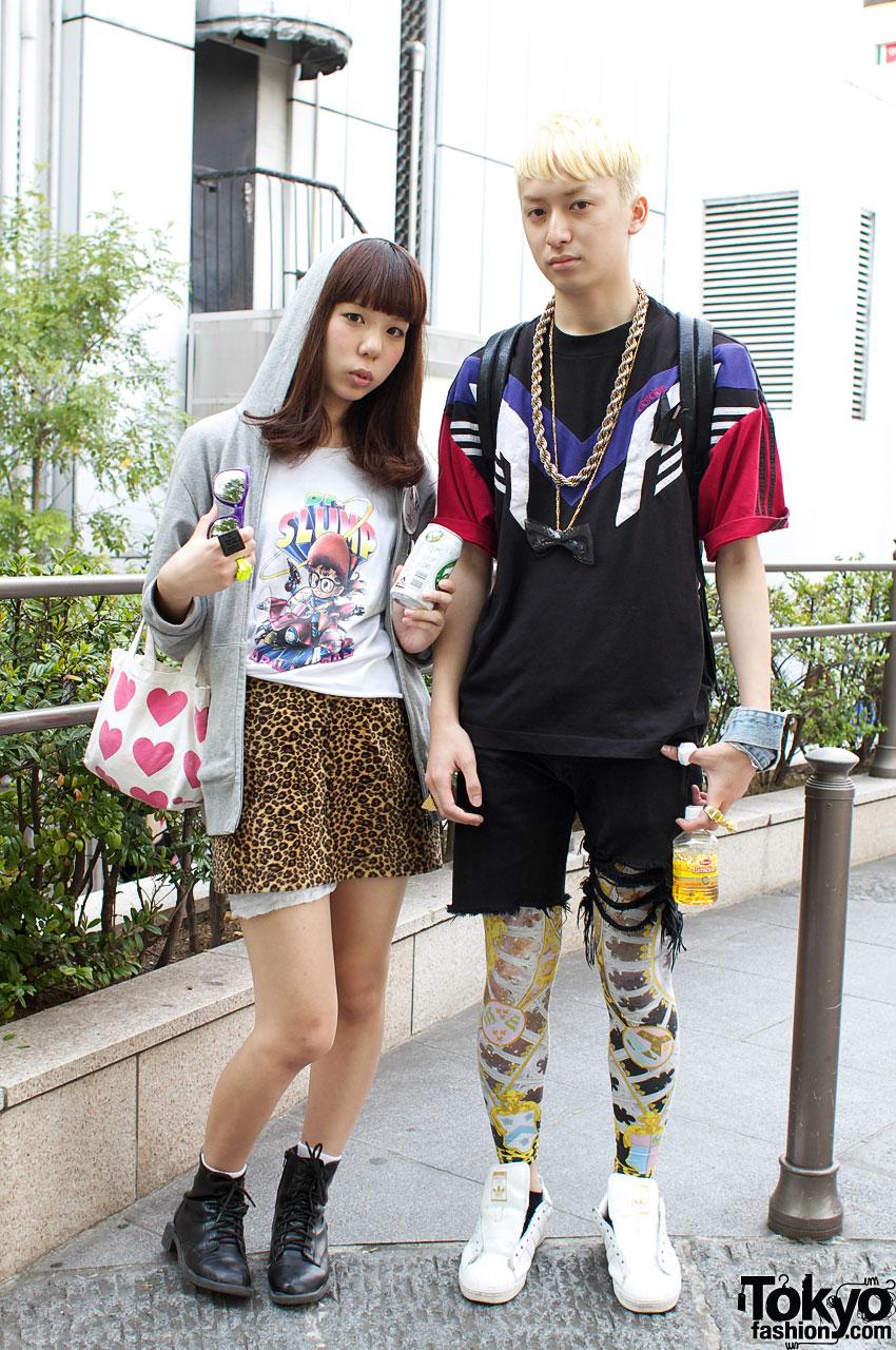 Dr. Slump & Leopard Skirt Girl vs. Adidas & Leggings Guy